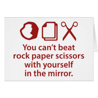 Cartão Você não pode bater as tesouras de papel da rocha