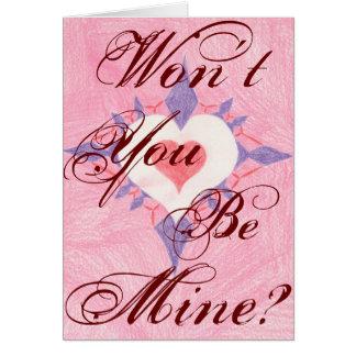Cartão Você não será meu? Coração