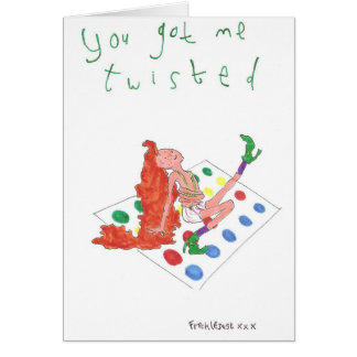 Cartão você obteve-me torceu
