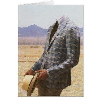 Cartão Você perderá sua cabeça no deserto
