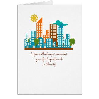 Cartão Você recordará sempre seu primeiro apartamento