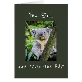 """Cartão Você senhor é """"sobre aniversário do urso de Koala"""