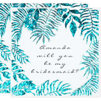 Cartão Você será meu azul de oceano tropical da dama de