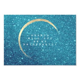 Cartão Você será meu brilho azul do ouro do oceano da