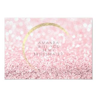 Cartão Você será meu brilho cor-de-rosa do ouro do ouro