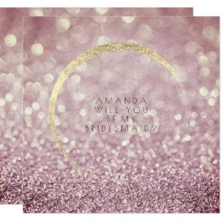 Cartão Você será meu brilho do ouro da ameixa do marrom