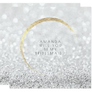 Cartão Você será meu brilho do ouro da prata da dama de