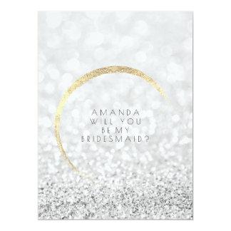 Cartão Você será meu brilho do ouro das cinzas de prata