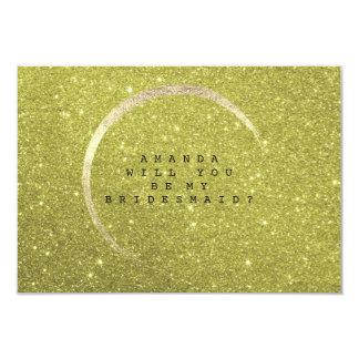 Cartão Você será meu brilho do ouro do limão da dama de
