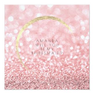 Cartão Você será meu brilho do ouro do rosa do rosa da