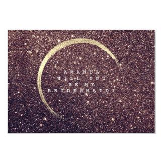 Cartão Você será meu brilho rústico do ouro da dama de
