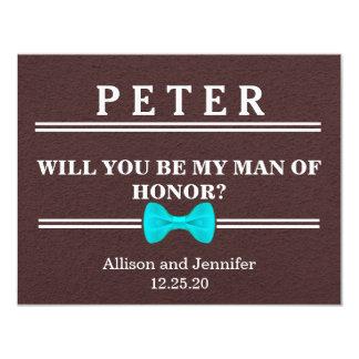 Cartão Você será meu homem de honra? Personalizado