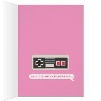 Cartão Você será meu jogador 2? - Dia dos namorados do