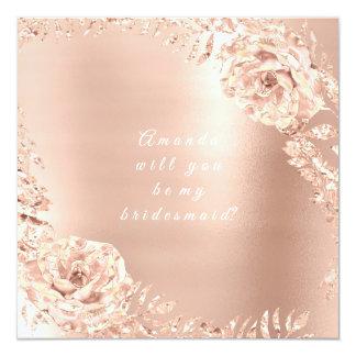 Cartão Você será meu Lux cor-de-rosa da grinalda do ouro