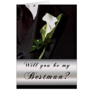 Cartão Você será meu melhor homem?