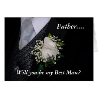 Cartão Você será meu melhor pai do homem