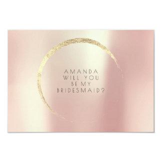 Cartão Você será meu ouro cor-de-rosa do ouro da dama de