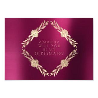 Cartão Você será meu ouro do Bordéus de Borgonha da dama