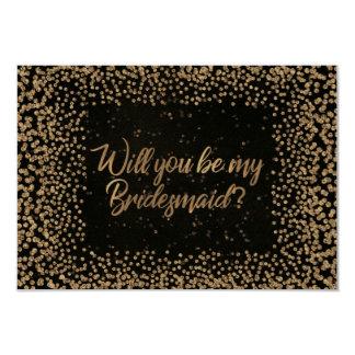 Cartão Você será meu ouro do brilho de Brown VIP da dama