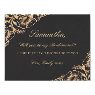 Cartão Você será meu ouro do vintage da dama de honra