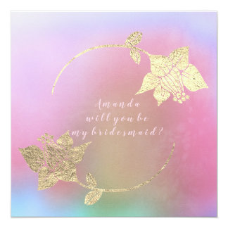 Cartão Você será meu ouro fúcsia de Ombre do rosa da dama