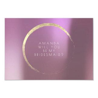 Cartão Você será meu ouro malva do Lilac da dama de honra
