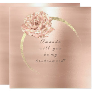 Cartão Você será meu ouro que da dama de honra o pêssego