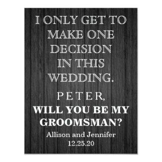 Cartão Você será meu padrinho de casamento? Personalizado