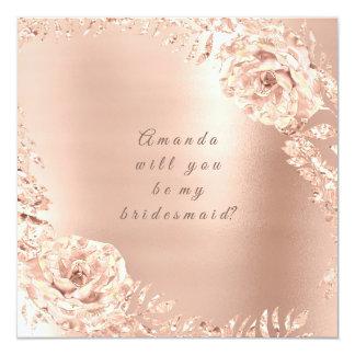 Cartão Você será meu pêssego cor-de-rosa da grinalda do