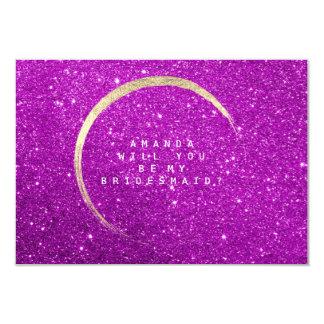 Cartão Você será meu rosa brilhante do brilho do ouro da