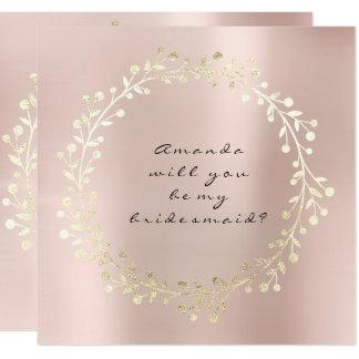 Cartão Você será meu rosa das cinzas de prata do ouro da
