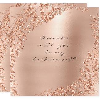 Cartão Você será meu rosa do rosa da grinalda do brilho