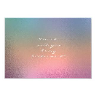 Cartão Você será meu rosa Ombre azul da dama de honra