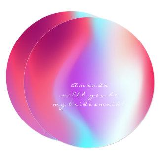 Cartão Você será meu rosa Tiffany da bola de Ombre da