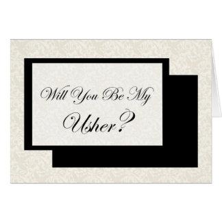 Cartão Você será meu Usher?