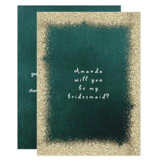 Cartão Você será meu verde de Cali do brilho do ouro da