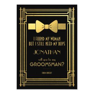 Cartão Você será meus grandes Gatsby padrinhos de