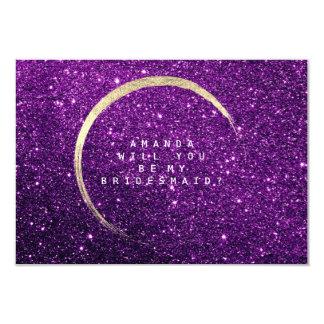 Cartão Você será minha ameixa do roxo do brilho do ouro