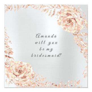 Cartão Você será minha cinza cor-de-rosa da grinalda do