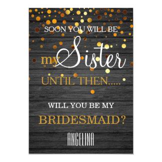 Cartão Você será minha dama de honra?