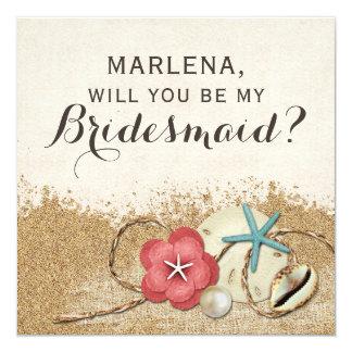 Cartão Você será minha dama de honra? Casamento de Sandy