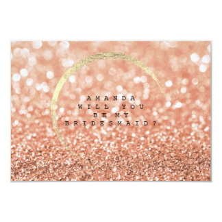 Cartão Você será minha dama de honra que o rosa cora