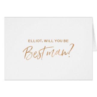 """Cartão """"Você será minha melhor mão de cobre do homem""""  """