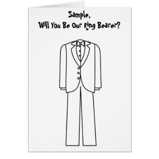 Cartão Você será nosso portador de anel