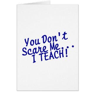 Cartão Você susto mim eu não ensino o texto azul