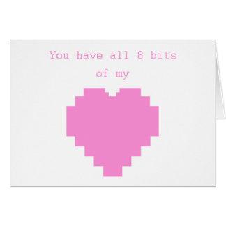 Cartão Você tem todos os 8 bocados de meu coração