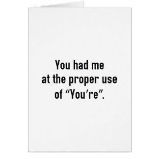Cartão Você teve-me em