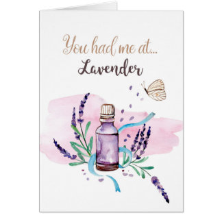 Cartão Você teve-me na lavanda