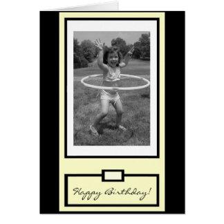 """Cartão """"Você vai, menina!"""" Feliz aniversario"""