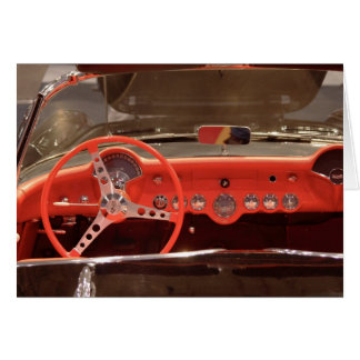 Cartão Volante 1956 e traço de Chevrolet Corvette